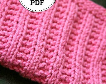 Knitting Pattern | Dishcloth pattern | Knitted Dishcloth | Keep it Straight (er)