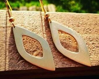 Brass earrings diamond earrings