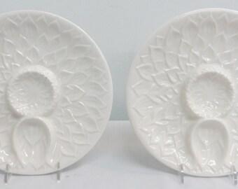Pair Italian Ceramic Artichoke Plates
