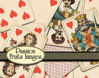 Antique Victorian Playing Cards- a Digital Image Collection  NOT INSTANT DOWNLOAD
