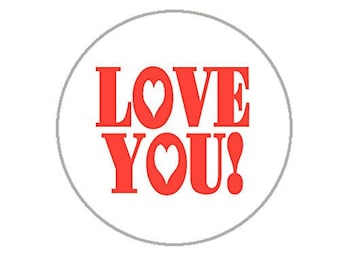 """Love You Envelope Seals - 1.2"""" Stickers - 144 Love Stickers - 25130"""