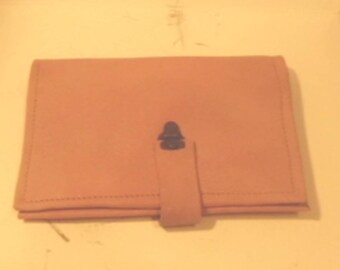 Leather Top Stub Check book cover/ top stub checkbook cover