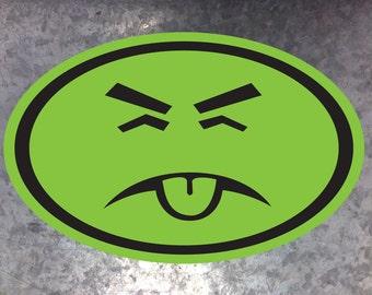 Mr. Yuk Euro style bumper sticker