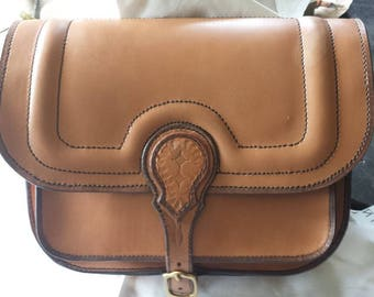 Woman's handbag made of natural leather