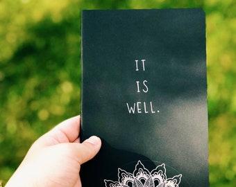 It Is Well Mandala Moleskine Notebooke