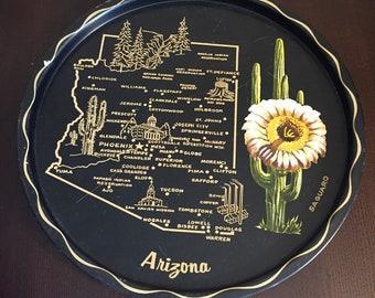 Arizona Metal Souvenier Plate