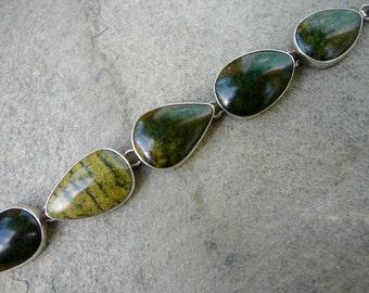 Taxco Silver Bracelet,Taxco Bracelet,Silver Link Bracelet,Taxco Jewelry,Taxco Silver,Citlal Castillo,Vintage Mexican Silver Jewelry,Taxco
