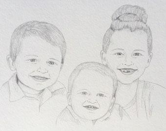 custom portrait sketch