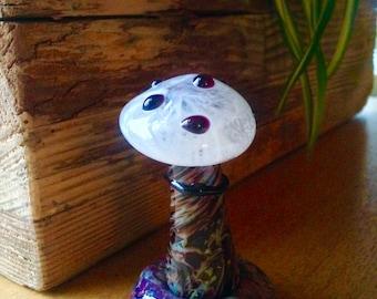 Glass Mushroom Sculpture