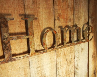Home, Metal Word Art for Indoors or Outoors