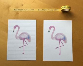 Flamingo Snail Mail Pen Pal Writing Paper