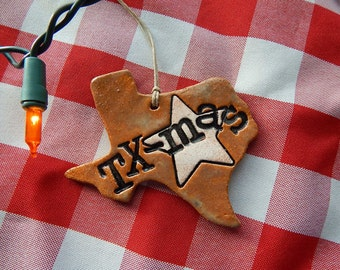 Texas Christmas Ornament, TXmas ornament