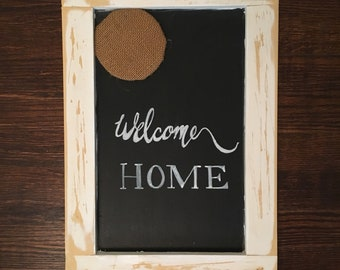 Rustic Message Board - Chalkboard - Wooden Rustic Frame - Kitchen Command Center