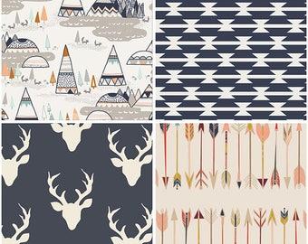 Woodland Fabric Bundle -Art Gallery Fabrics-Baby,Boy,Nursery,Bedding-Teepee,Deer,Arrow