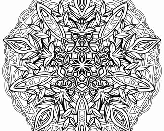 Mandala Coloring Page - Instant Digital Download Page