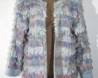 Vintage 1990s Handmade Ragtime Raw Edge Lightweight Jacket Medium