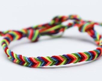 Rainbow Bracelet / Gay Pride Bracelet / LGBT Bracelet / Pride Bracelet / Gay Bracelets / Gay Pride Jewelry / Rainbow Pride Bracelets