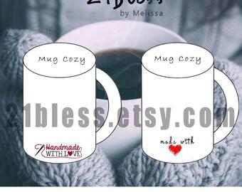 Mug Cozy Instant download template coffee cozy printable