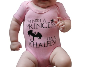 I'm not a princess, I'm a Khaleesi Baby Vest / Baby Grow