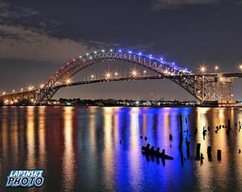 "Bayonne Bridge Photograph, Color Photography, New Jersey Photo, Wall Art, Art Print, Bridge Photo, Urban Decor, ""Bayonne Bridge, Old Style"""