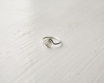 Spiral Nose Hoop Tragus Hoop Sterling Silver
