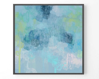 Large abstract painting, Blue PRINT, Blue large painting, seascape, blue ocean art, wall art navy blue, teal art, seascape art print