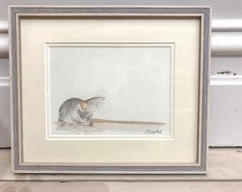 Framed Original illustration - Rat