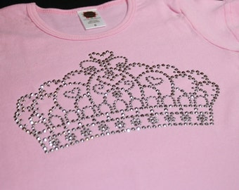 CROWN rhinestud tee by Daisy Creek Designs