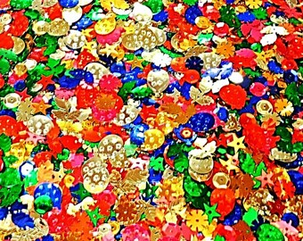 Sequins Spangles Craft Sewing Colours Embellishments 50g Pack