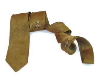 60s Neckwear Skinny Gold Tie 1960s Narrow Tie Skinny Tie Skinny Necktie Narrow Gold Tie Narrow Tie Skinny Narrow Print Tie Black Gold Tie
