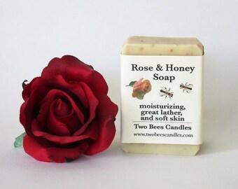 Rose Honey Soap, organic ingredients
