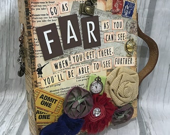 FAR Vacation Travel Adventure Suitcase Mini Album 2-ring Binder All Occasion Scrapbook Scrapbooking Vintage Style