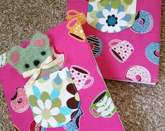 Kawaii bear and pocket notebook