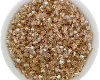Golden Shadow (2.5mm - 4mm) Swarovski Crystal 5328 Xilion Bicones
