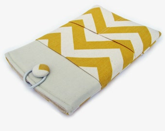 "11"" Acer Chromebook sleeve, 11"" HP Chromebook case, Lenovo IdeaPad case, 11"" Laptop sleeve, Yellow Chevron"