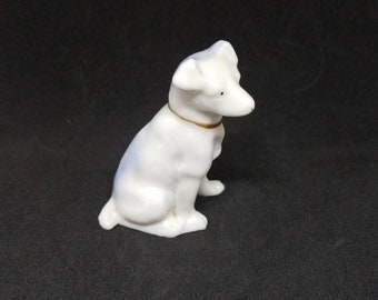 Vintage porcelain Jack Russell dog figurine, made in Japan