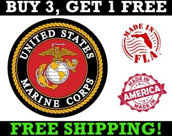 USMC Logo Decal, USMC Decal, Usmc Logo Sticker, USMC Bumper Sticker, Usmc Vinyl Decal, Marine Corps Decal, Marnie Corp Decal, USMc Car Decal