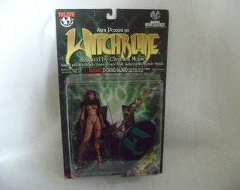 """WITCHBLADE ACTION FIGURE """"Sara Pezzini"""" Clayburn Moore Action Collectibles, With Stand and Accessories, Unused, Like New"""