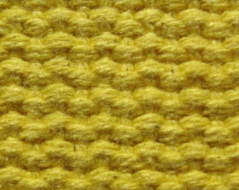 "Cotton Webbing 1 1/4"" Mellow Yellow For Key Fobs Handbags Crafts"