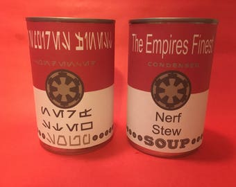 Star Wars soup can label set, Nerf Stew