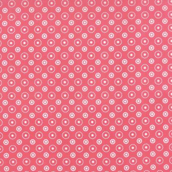 Meadow Bloom April Rosenthal Prairie Grass Quilt Fabric With Flowers And Circles Of Dots In Soft Retro Medium Pink By The Yard 24026 14