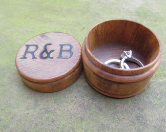 Personalized Wedding Ring Box, Engagement Rings Box,  Custom Ring Box, Wooden Ring Box, Wood Ring Boxes