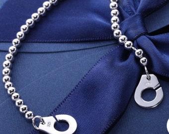 Sterling Silver 925 bracelet cuffs length 18 cm free shipping