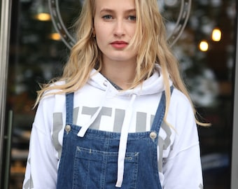 Vintage 90's Denim Dungarees Dress