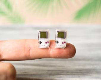 gameboy , video game earrings , geek jewelry  , gamer jewelry , geek earrings