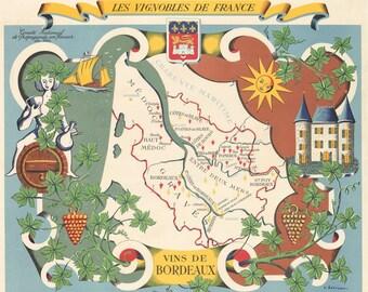 1954 Les Vignobles de France/Vins de Bordeaux