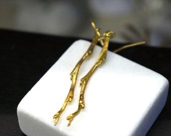 Olive Branch Earrings, Earrings for Women, Gift, Long Dangle Earrings, Dangle Earrings, Thin Earrings, Natural Earrings, Gift for Her
