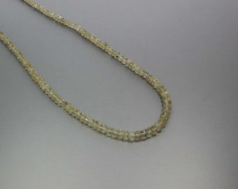 Scapolite Faceted Rondelle Beads 3.5 to 5.5 mm AA Necklace for Women