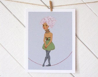 Tight Rope Walker Print