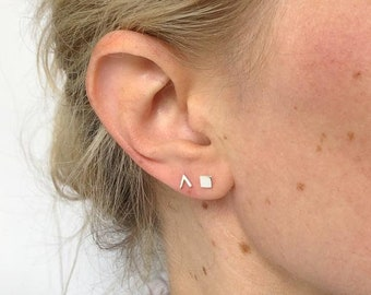 sterling silver chevron earrings